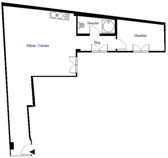 Vente appartement Paris 18ème 275000€ - Photo 7