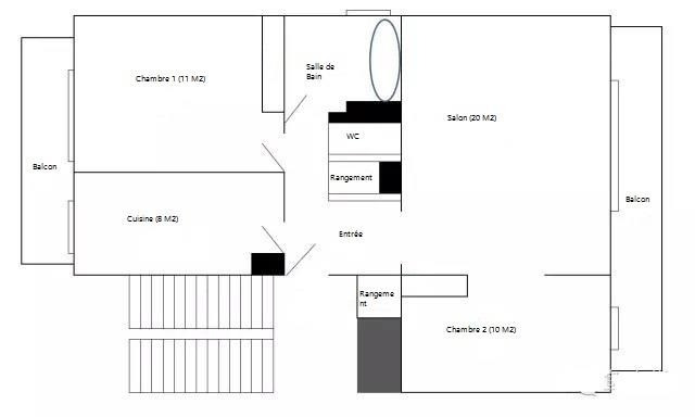 Rental apartment Maisons-laffitte 1200€ CC - Picture 8