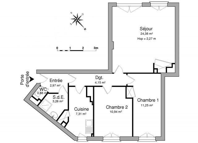 Location appartement Chambéry 767€ CC - Photo 2