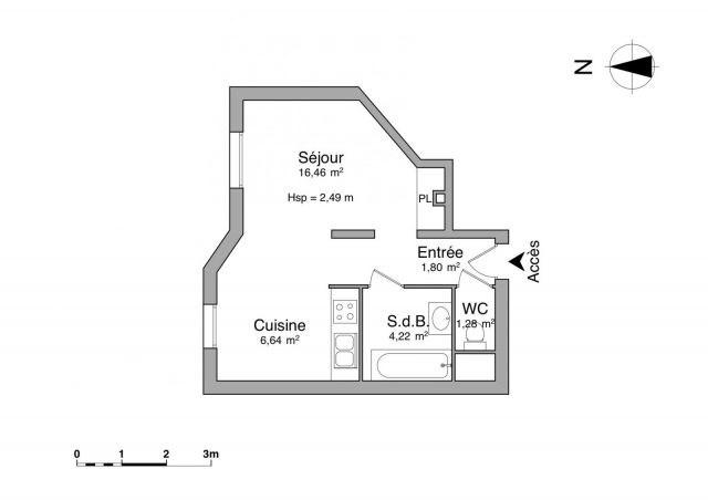 Affitto appartamento Chambéry 459€ CC - Fotografia 4