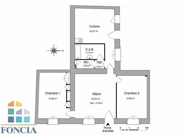 Vente appartement Villefranche-sur-saône 97500€ - Photo 2