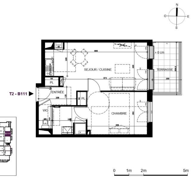 Location appartement Ste marie 560€ CC - Photo 1