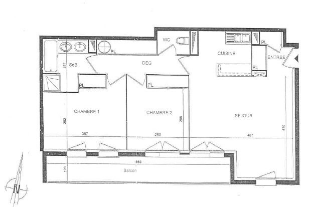 Appartement T3 la teste-de-buch