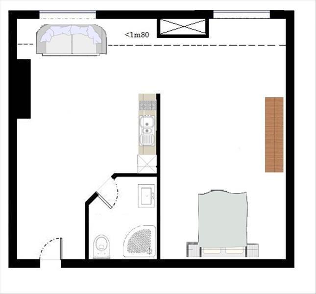 Vente appartement Paris 17ème 255000€ - Photo 2