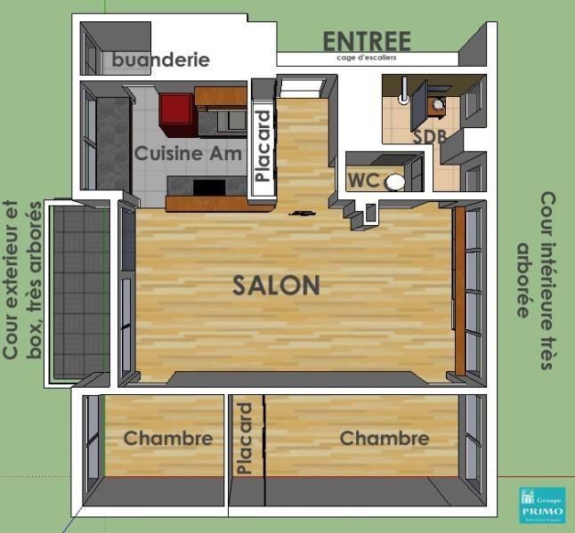 Vente appartement Sceaux 380000€ - Photo 4
