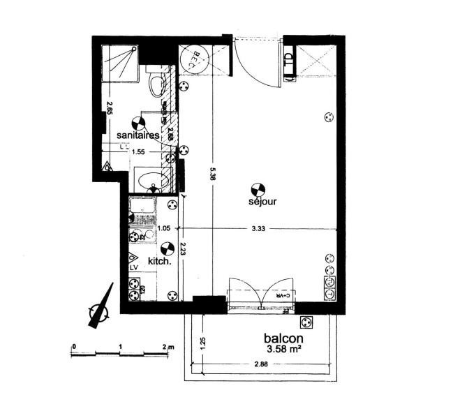 Sale apartment Massy 135000€ - Picture 7