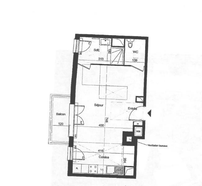 Location appartement Juvisy-sur-orge 665€ CC - Photo 2