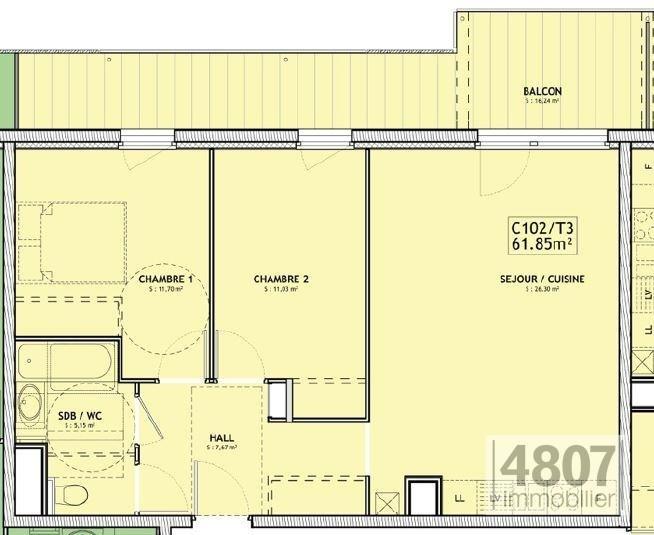 Vente appartement Servoz 293000€ - Photo 4