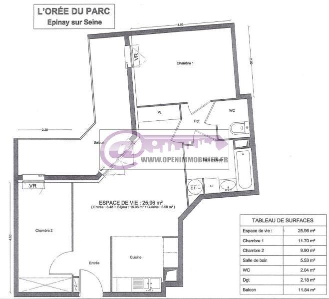 Venta  apartamento Enghien les bains 199000€ - Fotografía 8