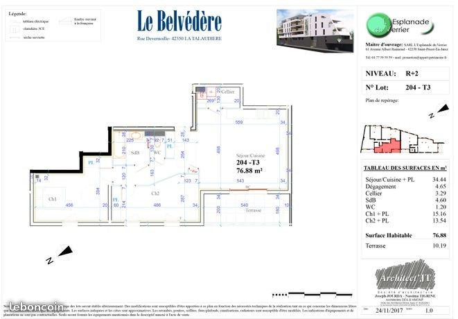 Sale apartment La talaudiere 138 000€ - Picture 4