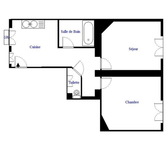 Vente appartement Paris 18ème 299000€ - Photo 2