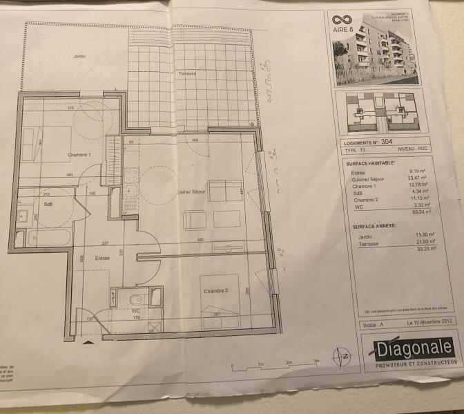 Sale apartment Lyon 8ème 289000€ - Picture 2