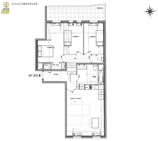 Venta  apartamento Dinard 450000€ - Fotografía 3