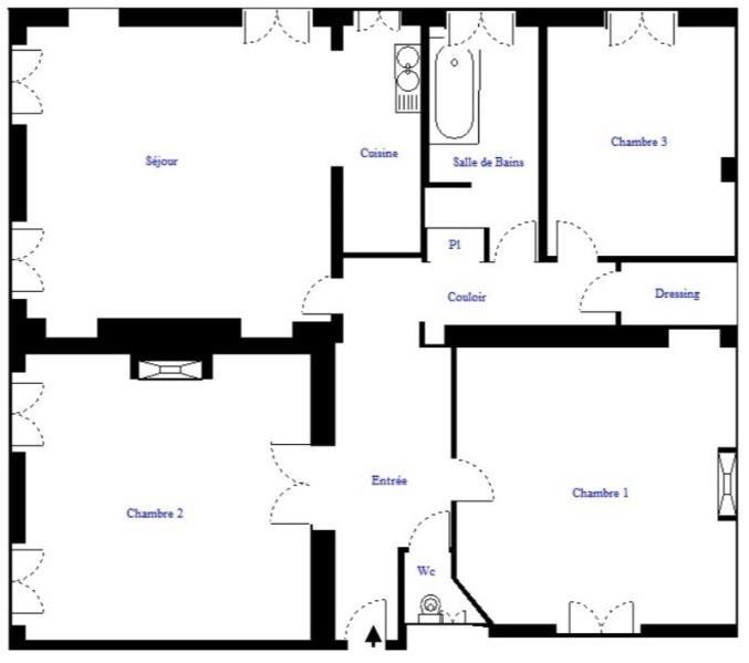 Revenda apartamento Paris 18ème 849000€ - Fotografia 9