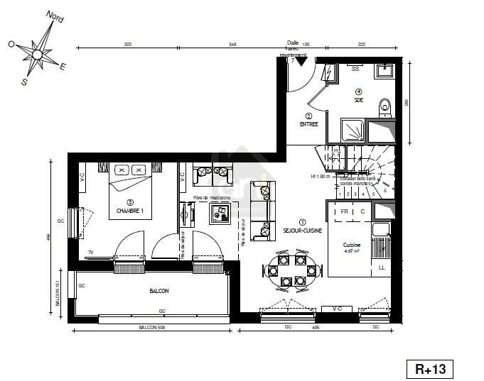 Vente appartement Marseille 3ème 408341€ - Photo 3