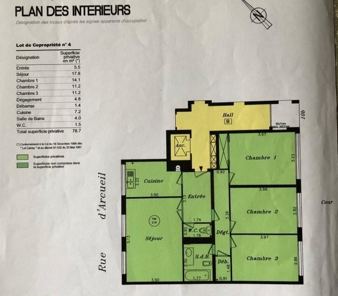 Vente appartement Gentilly 389000€ - Photo 2