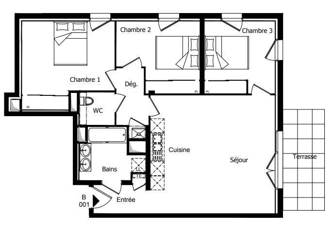 Vente appartement Challans 207500€ - Photo 2