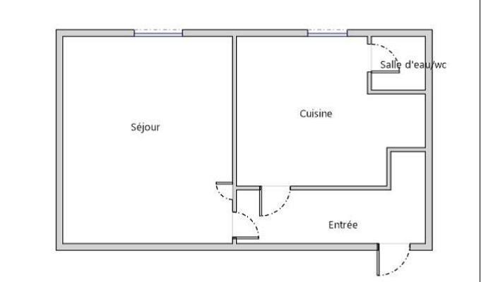Vente appartement Asnieres sur seine 110000€ - Photo 2