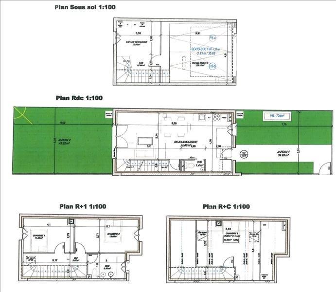 Vendita casa Houilles 478000€ - Fotografia 5