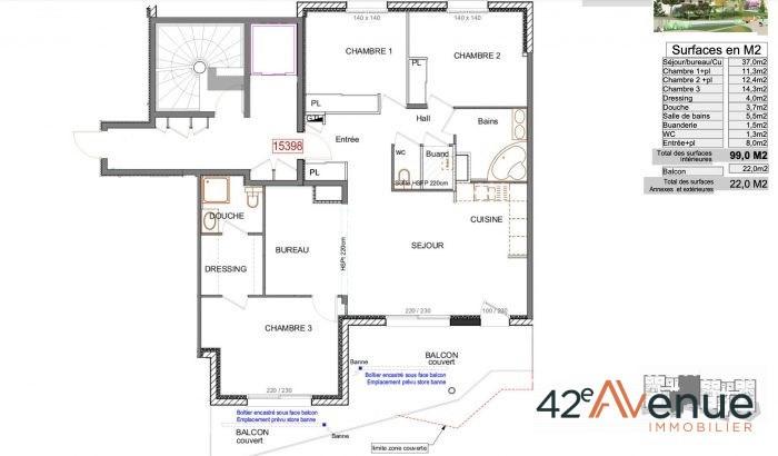 Sale apartment La fouillouse 298000€ - Picture 2