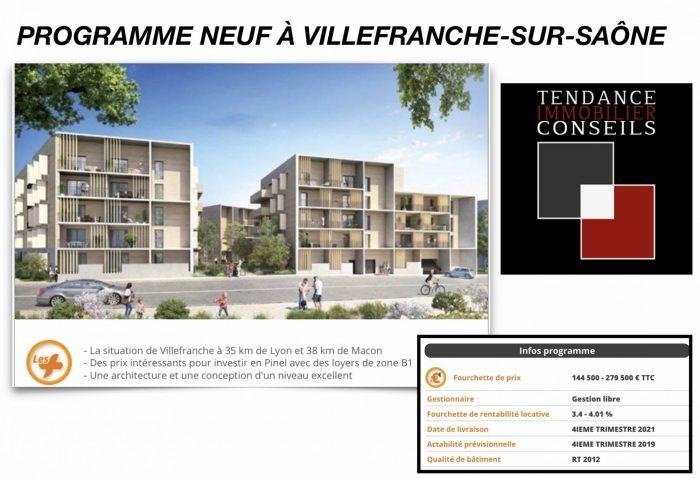 Vente appartement Villefranche-sur-saône 144500€ - Photo 1