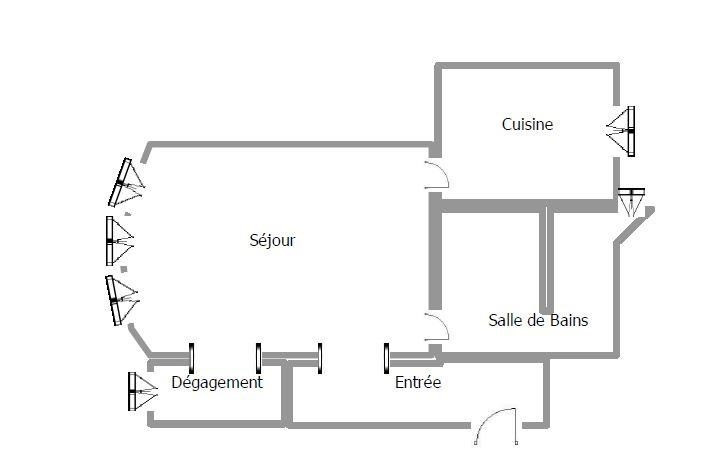 Vente appartement Paris 15ème 309000€ - Photo 6