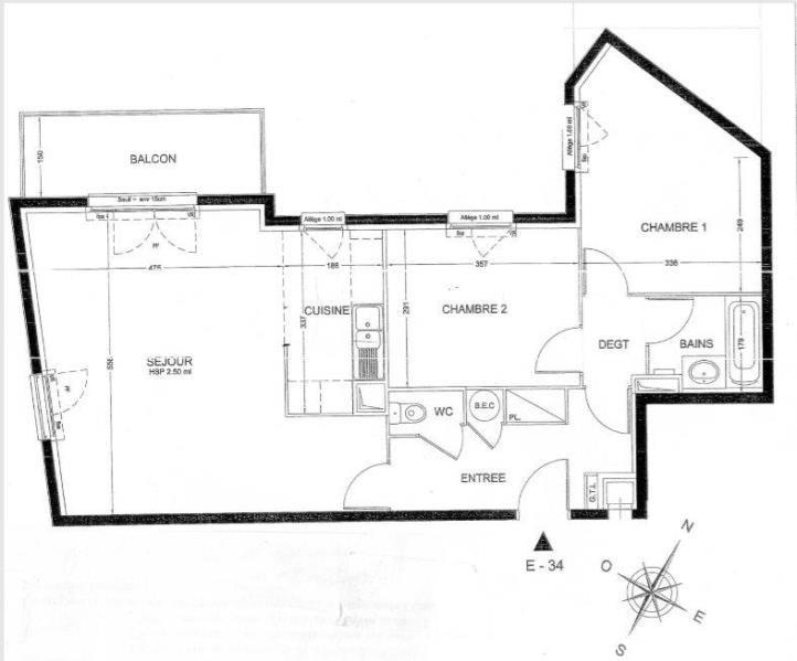 Vente appartement Nanterre 380000€ - Photo 1