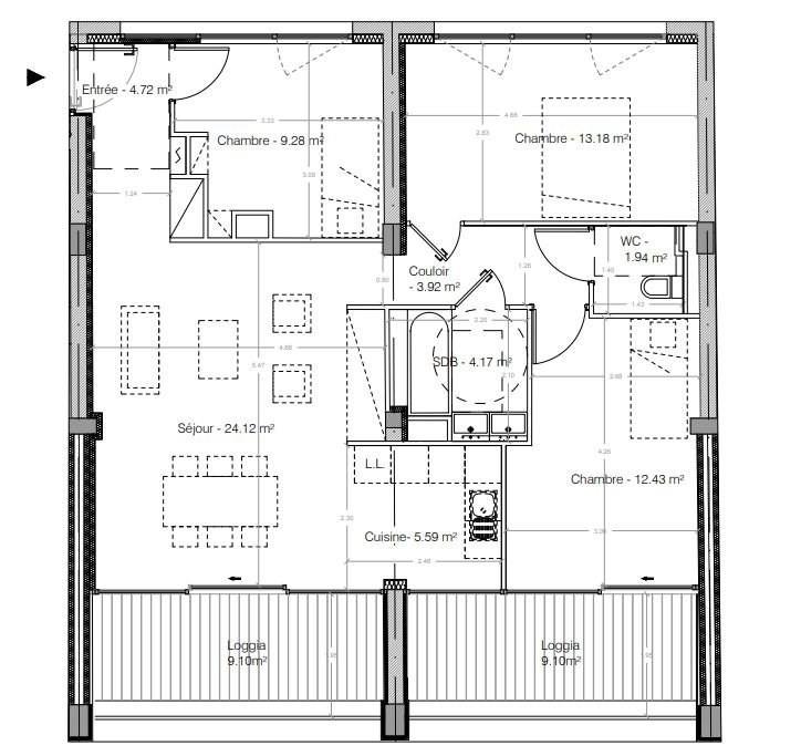 Sale apartment Strasbourg 377000€ - Picture 1