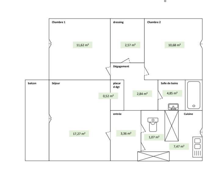 Venta  apartamento Asnierers/seine 230000€ - Fotografía 1