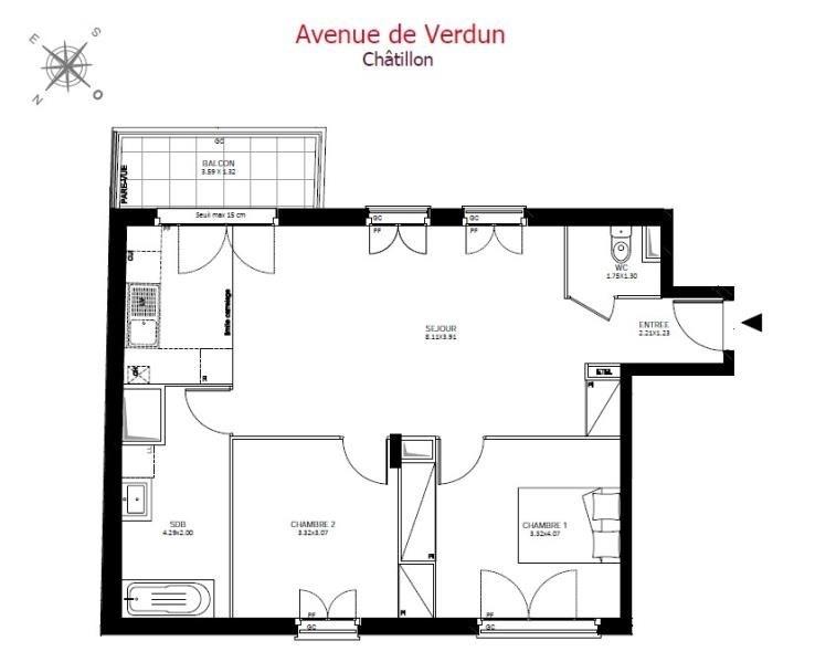 Sale apartment Châtillon 456600€ - Picture 2