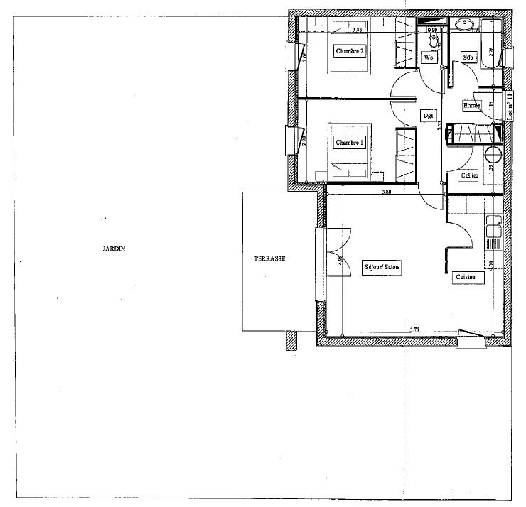 Vente appartement Parentis en born 131500€ - Photo 4