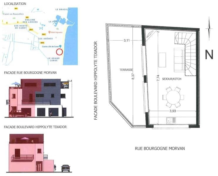 Vente appartement Canet plage 380000€ - Photo 2