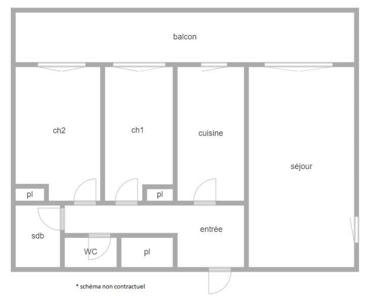 Vente appartement Clichy 367500€ - Photo 2