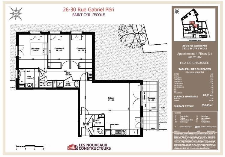 Vente appartement St cyr l ecole 479100€ - Photo 3