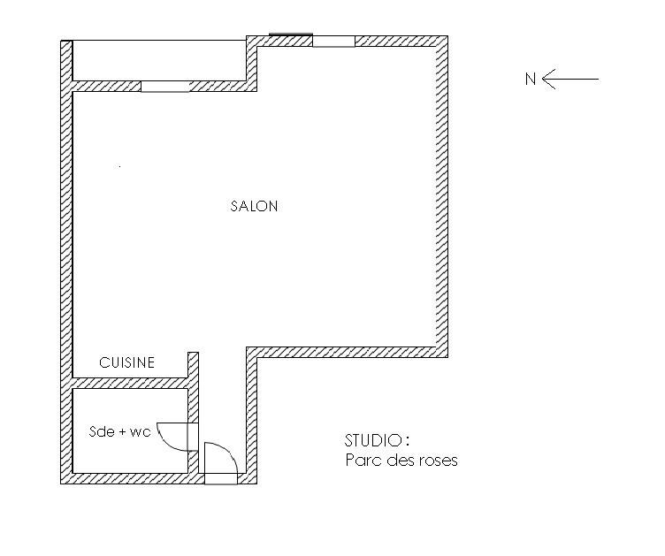 Location appartement Aix en provence 560€ CC - Photo 9