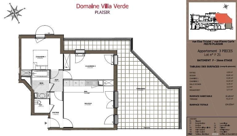 Sale apartment Plaisir 292200€ - Picture 3