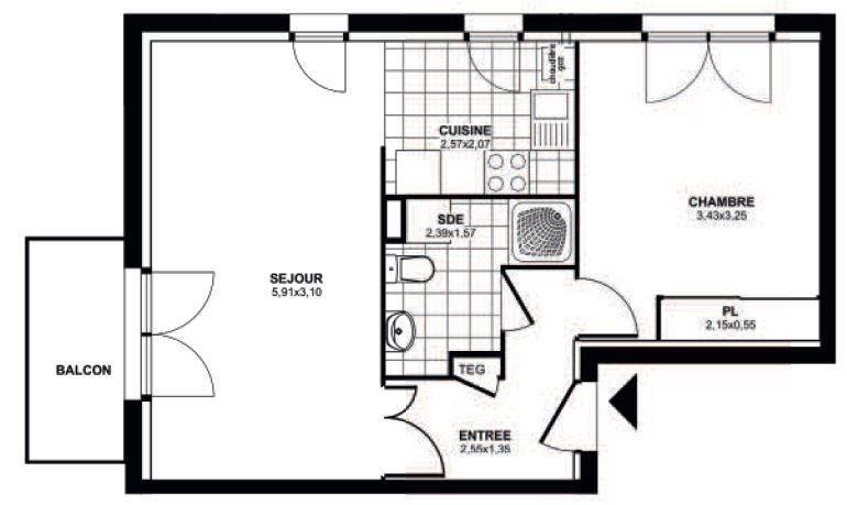 Location appartement St nazaire 530€ CC - Photo 6