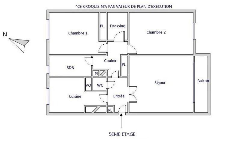 Rental apartment Asnières-sur-seine 1045€ CC - Picture 5