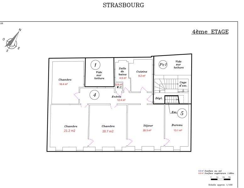 Sale apartment Strasbourg 424000€ - Picture 3