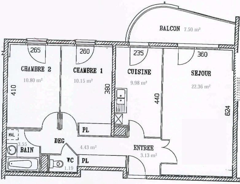 Location appartement Dijon 690€ CC - Photo 9