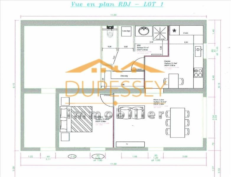 Vente appartement Barby 180 000€ - Photo 2