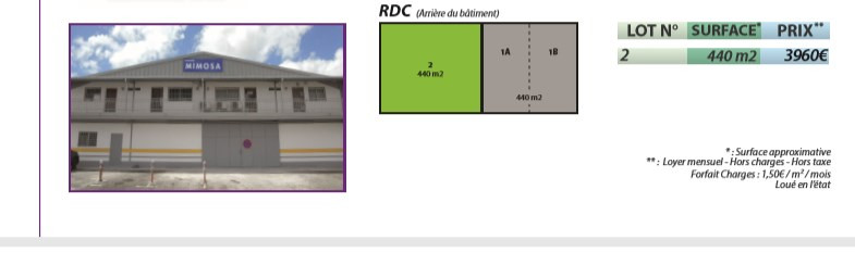Rental office Les abymes 4620€ HC - Picture 1