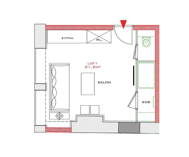 Sale apartment Lyon 2ème 181472€ - Picture 6