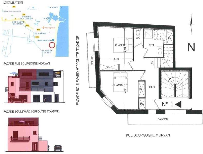 Vente appartement Canet plage 380000€ - Photo 3