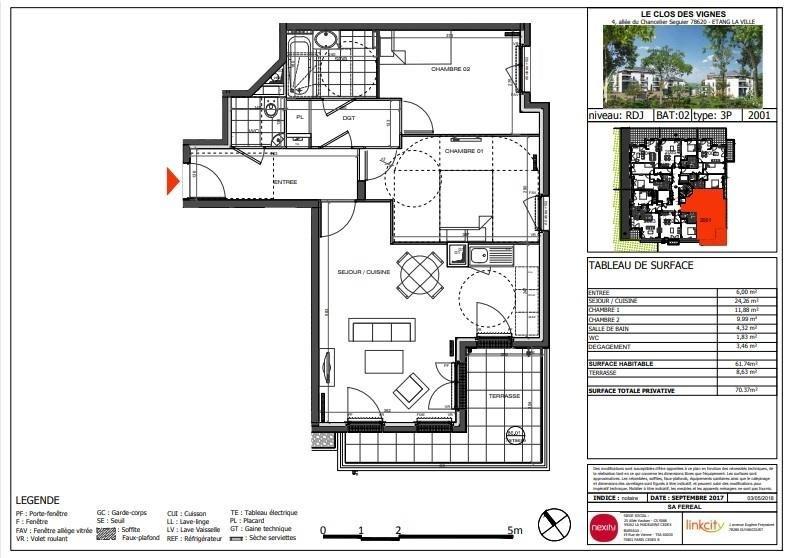 Vente appartement L'étang-la-ville 395000€ - Photo 1