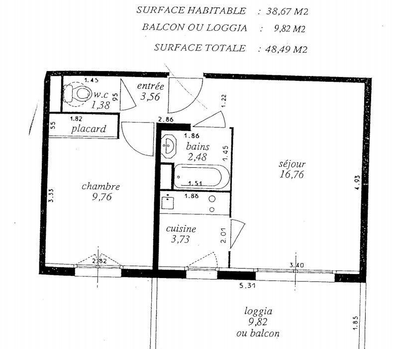 Venta  apartamento St raphael 176000€ - Fotografía 7