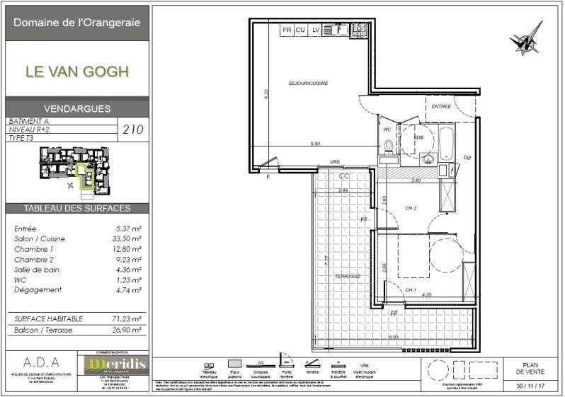 Location appartement Vendargues 930€ CC - Photo 2