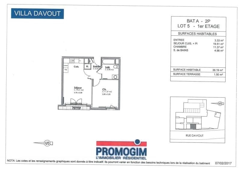 Rental apartment Dijon 544€ CC - Picture 2