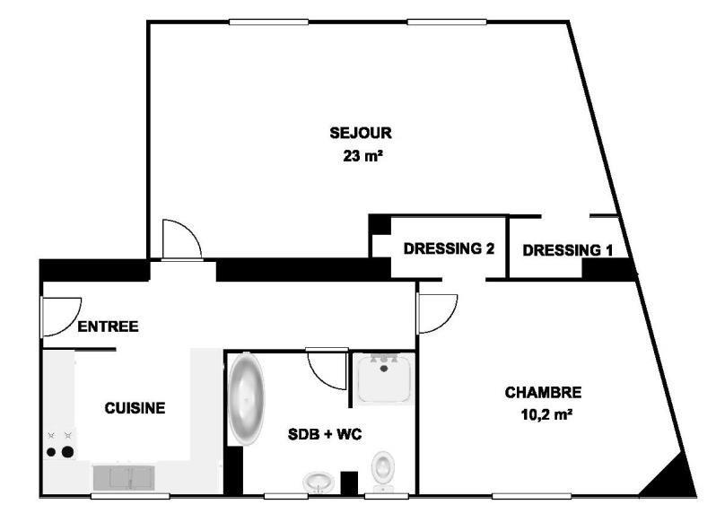 Sale apartment Courbevoie 341550€ - Picture 5