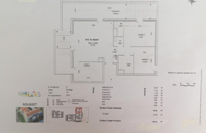 Sale apartment Rousset 389900€ - Picture 2